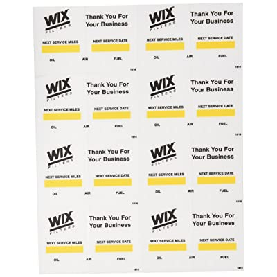 Wix (WI1516 Oil Change Decal: Automotive