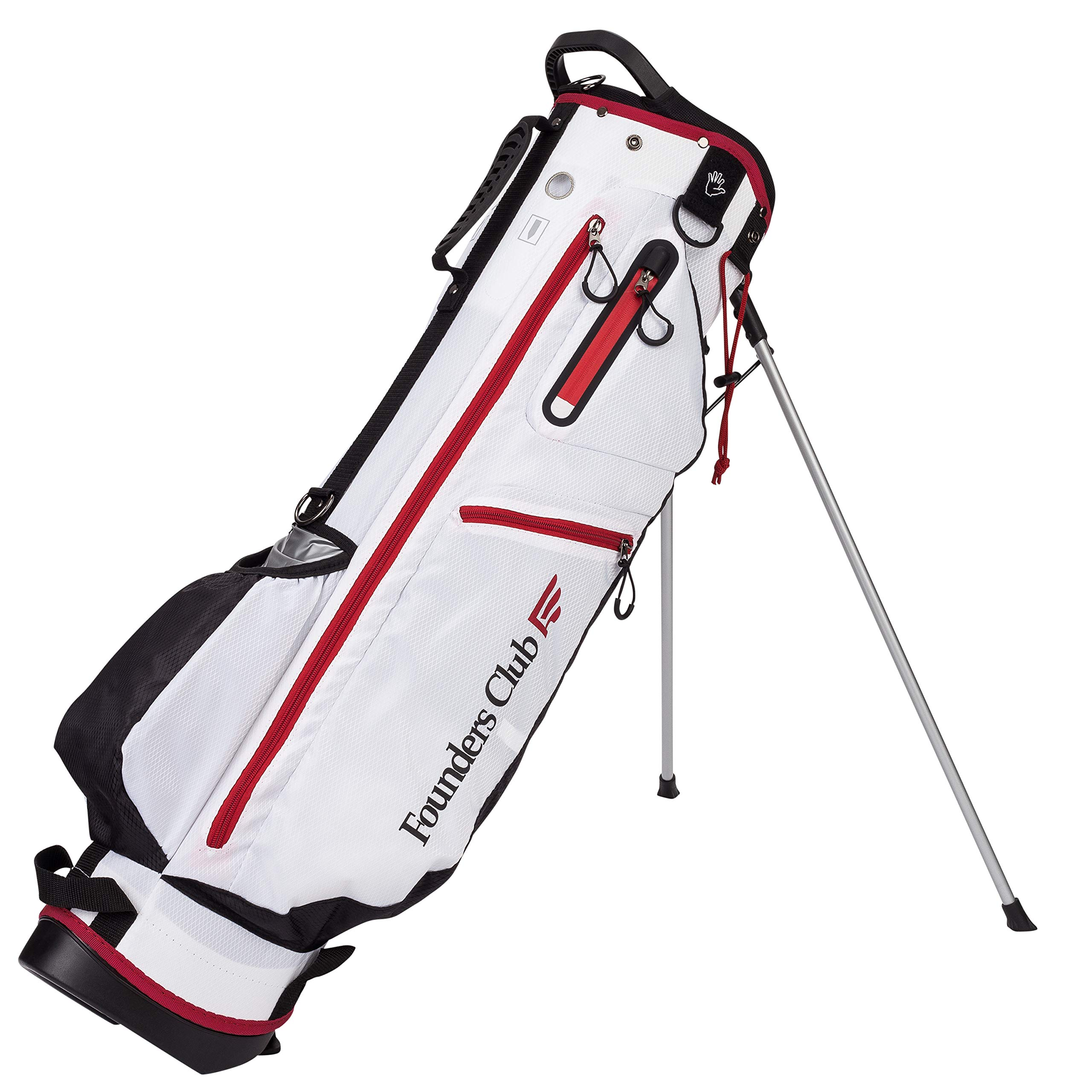 Founders Club 7'' Mini Light Weight Golf Stand Bag (White)