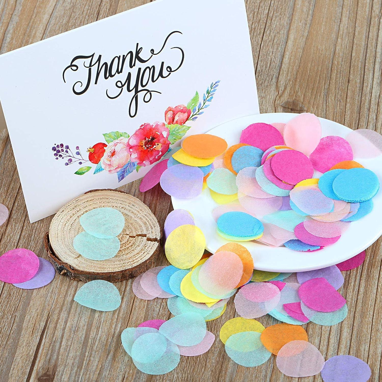 Kesote Multicolore Coriandoli a Forma Rotonda 10000 Pezzi di 8 Colori Decorazione per Matrimonio Compleanno Festa