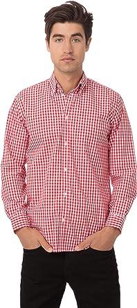Chef Works - Camisa de Vestir para Hombre (Talla XXL), diseño de Cuadros, Color Rojo: Amazon.es: Ropa y accesorios