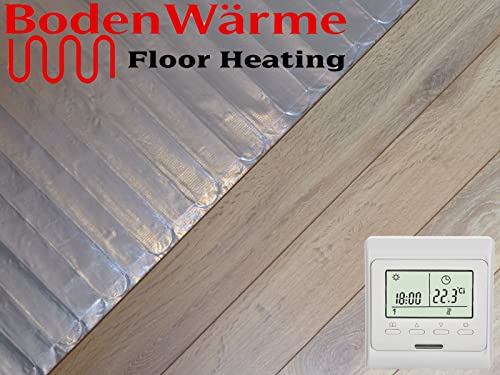 Electric Under Laminate Wood Foil Underfloor Heating Mat Kit 5m