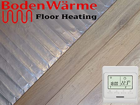 Electric Under Laminate Wood Foil Underfloor Heating Mat Kit 5m