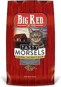 Big Red Tasty Morsels Cat Food 40lb, Natural (182870_40)