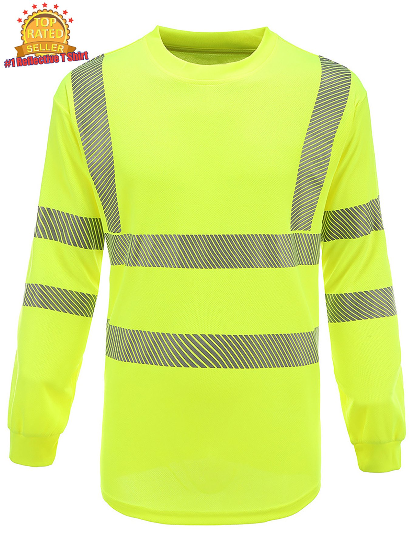 360 USA ANSI ISEA Class 2 Mesh Dry Fit Safety reflective long sleeve T-shirt