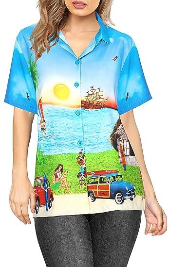 LA LEELA botón de la Blusa de la Playa de Las Mujeres Abajo ...