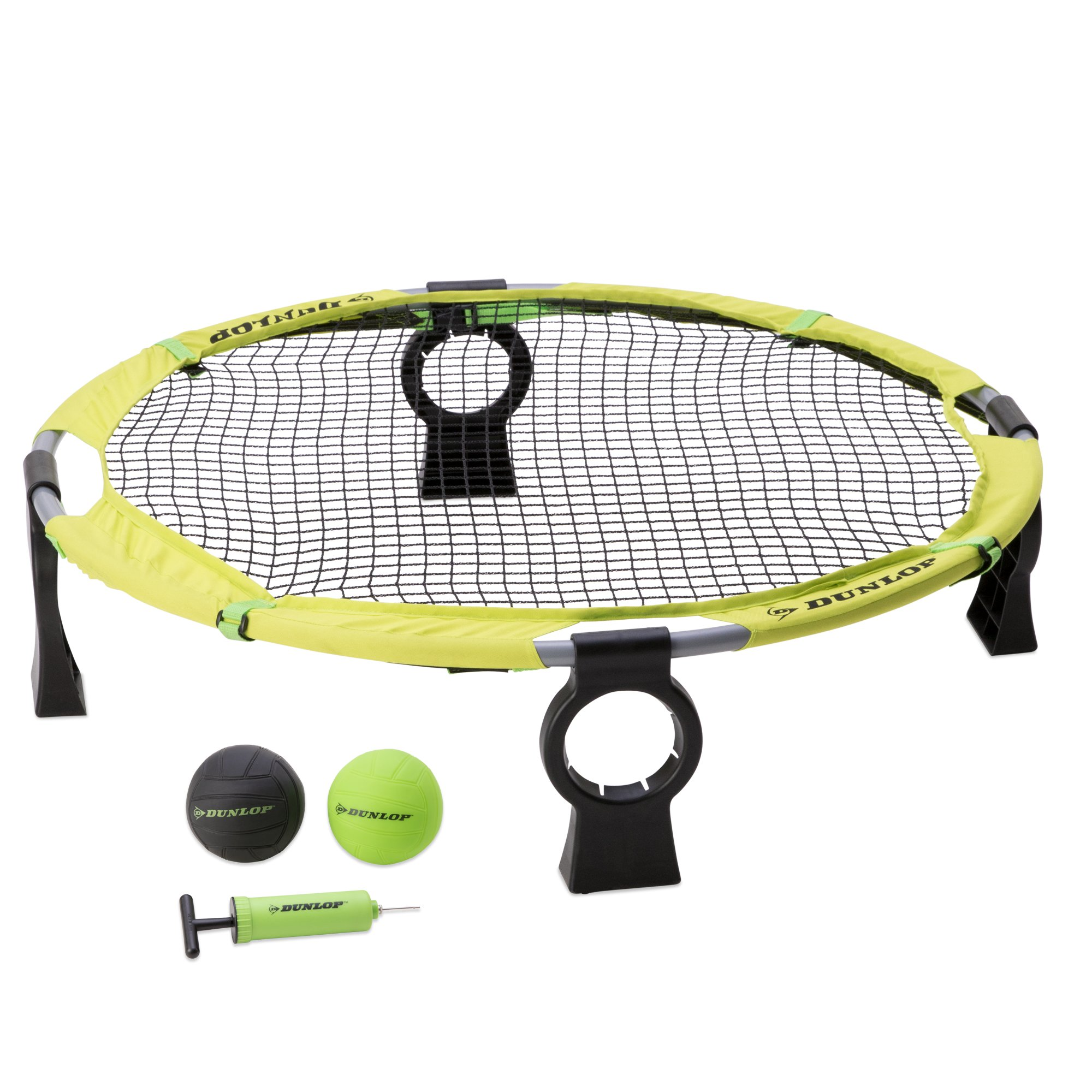 Dunlop Premium Spike Ball Battle Game Set - Spyderball Combo Sets for Lawn, Beach, Camping, Yard, Outdoor Games - Competitive or Recreational Slammo Volleyball Tournament - Fun Kit for Adults, Kids