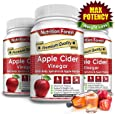 Nutrition Forest Apple Cider Vinegar Veggie Capsules - Extra Strength and Gluten Free