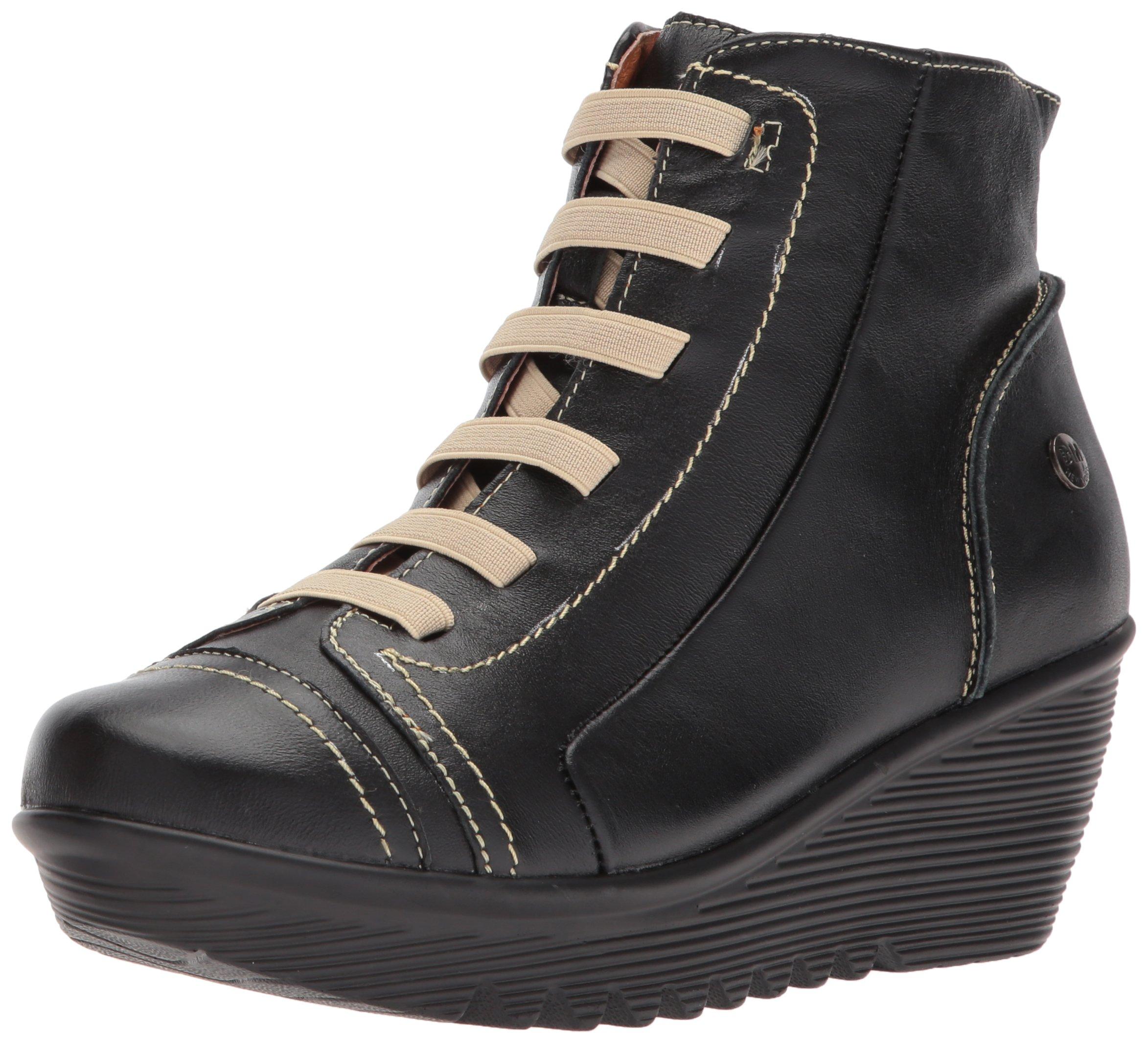 Bernie Mev Women's High Rise Fashion Sneaker, Black, 40 EU/9.5-10 M US