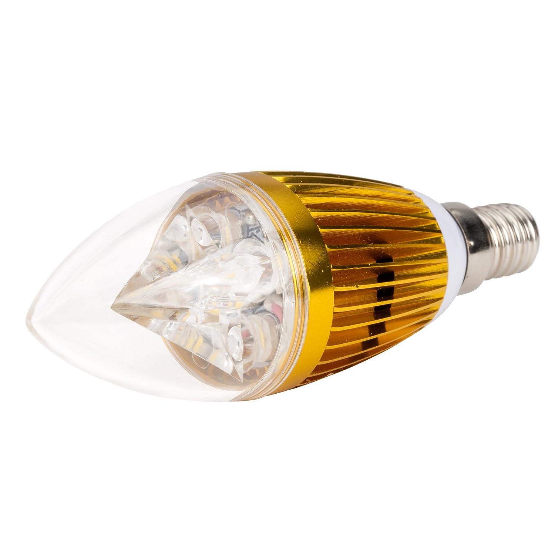 Greenice - Lámpara bombilla de leds vela e14 5w ecoline: Amazon.es: Iluminación