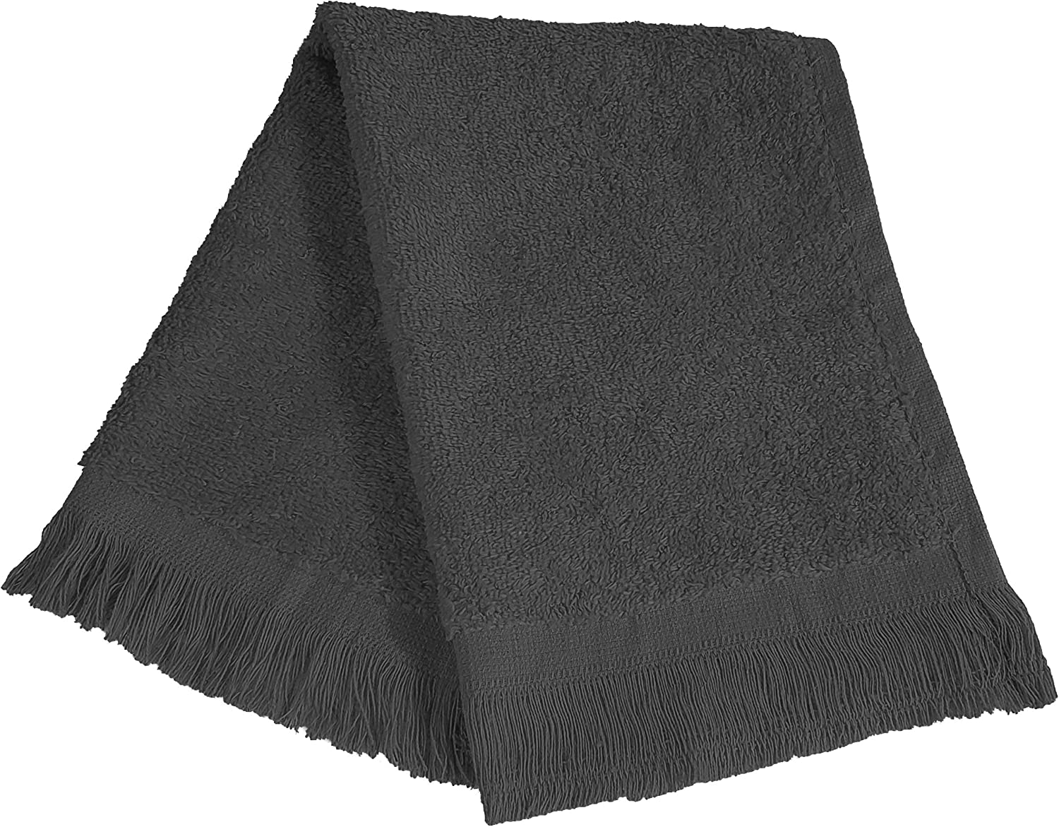 (12 Pack) Set of 12- Promotional Priced Fingertip Towels (Black) 812BVMcsf9TL
