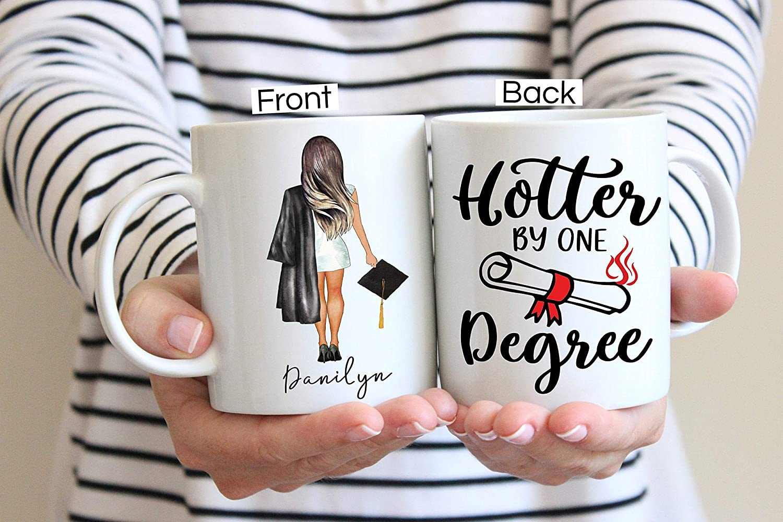 Regalo de graduación universitaria para ella, regalo de graduación personalizado, graduado universitario, regalo de graduación de hija, regalo de graduación, clase de 2021, taza de 11 onzas
