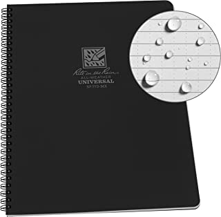 """product image for Rite in the Rain Weatherproof Side-Spiral Notebook, 8 1/2"""" x 11"""", Black Cover, Universal Page Pattern (No. 773-MX)"""