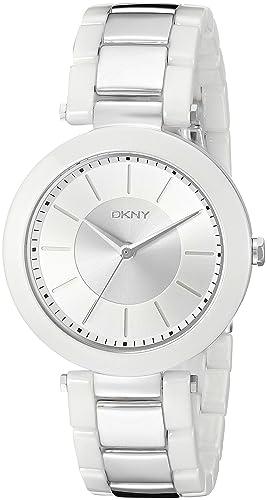 DKNY NY2288 Multicolor Cerámica Cristal mineral caja de acero inoxidable reloj de cuarzo: Dkny: Amazon.es: Relojes