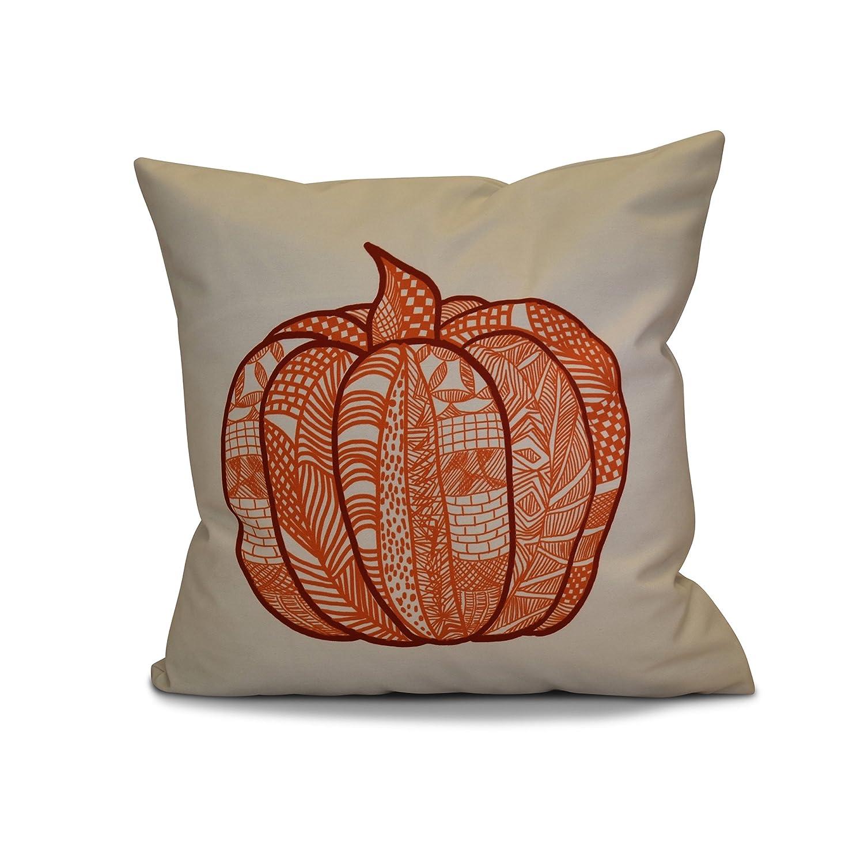 Pumpkin Patch E by design PHGN714OR12-20 20 x 20-inch Geometric Print 20x20 Red