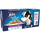 Felix Adult Cat Favourites Selection in Jelly Wet Food Pouch, 40x100g