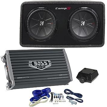 Kicker 3200 W cargado almacenaje, 3000 W amplificador, kit de cartucho (Certificado Reformado