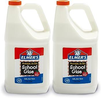 2-Count Elmer's Liquid School Glue, Washable, 1 Gallon
