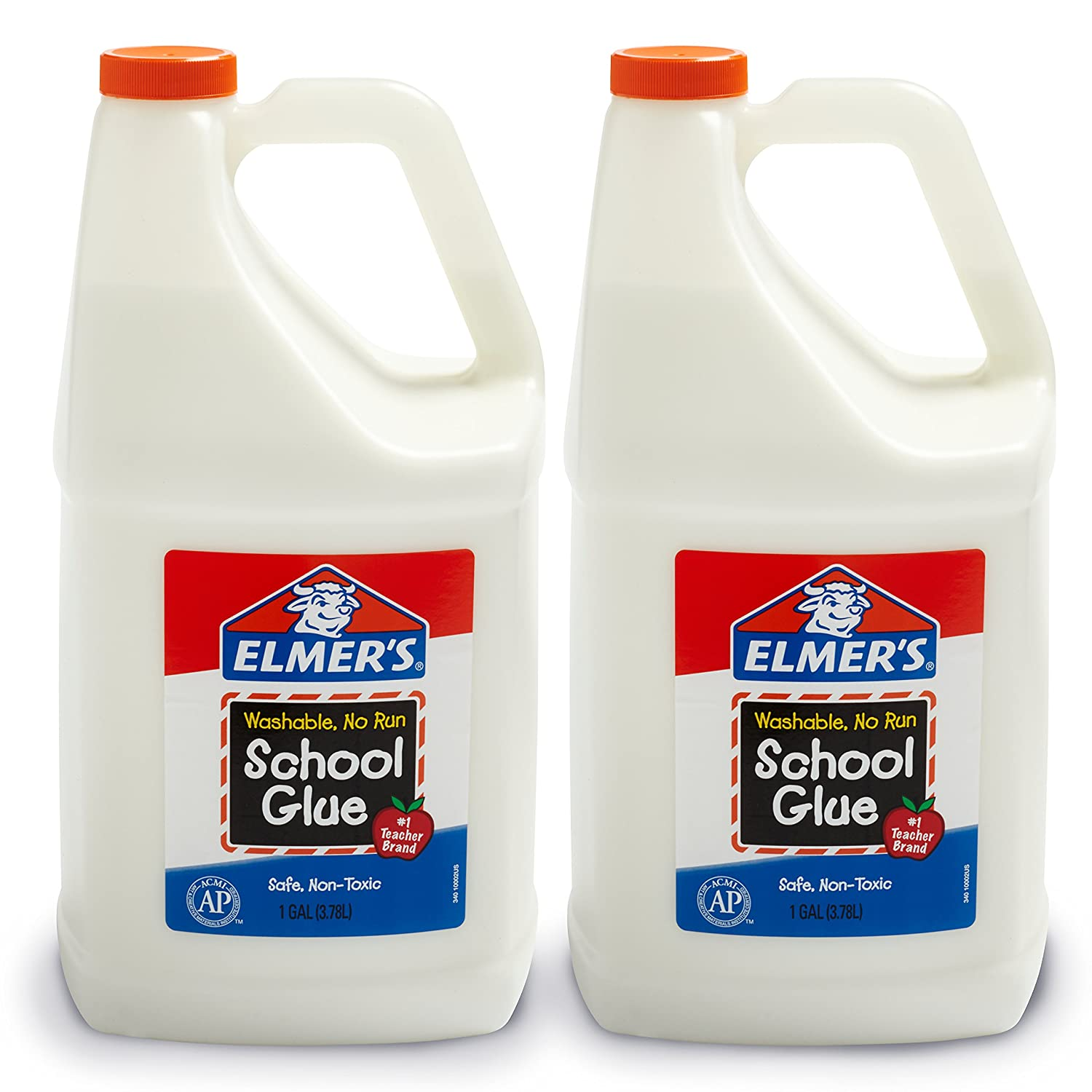 Elmer's Liquid School Glue, Washable, 1 Gallon, 2 Count - Great for Making Slime