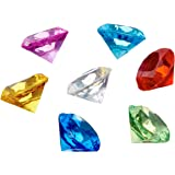 Adorox Mini Acrylic Crystal Gems Diamond Vase Filler Confetti Table Scatter Pirate Treasure (Assorted (1lb Bag))