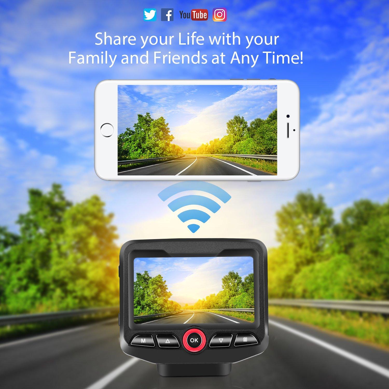 Cam/éra Embarqu/ée Voiture Grand Angle 170/° Dash Cam Enregistrement en Boucle Panlelo Cam/éra de Voiture Dashcam Voiture Full HD 1080P G-Sensor