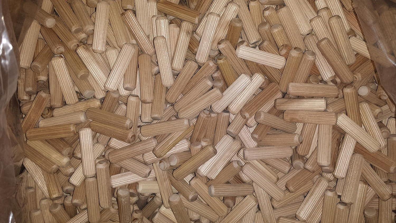 Wooden Dowel Pins Hardwood Flutted Beech Wood Multigroove (100) NODAX UK Ltd