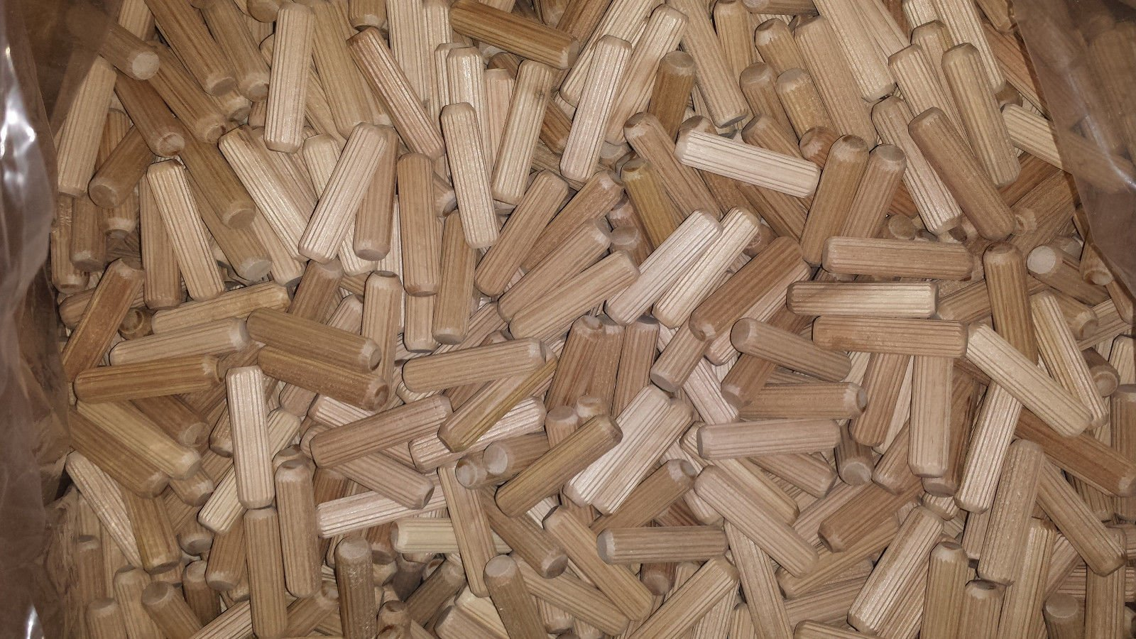 8mm x 40mm HARDWOOD MULTIGROOVE CHAMFERED WOODEN DOWELS FLUTED PINS CRAFT WOOD WORK 50