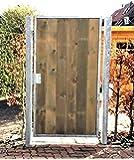Törchen / Einbaubreite 125 cm / Einbauhöhe 180 cm / Hochwertiges 1-flügeliges Tor / Verzinkt mit Holzfüllung / Holz Tor Gartentor Hoftor Einfahrtstor
