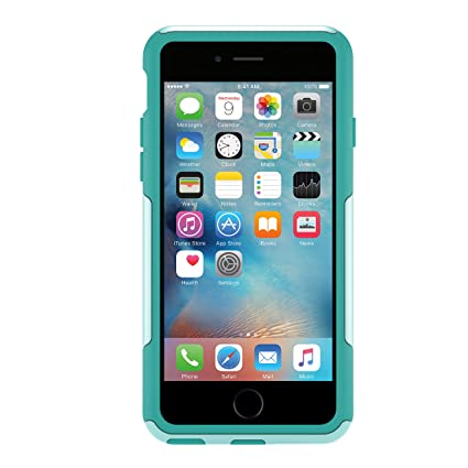 buy online e2fda 8dbc0 OtterBox COMMUTER SERIES iPhone 6/6s Case - Frustration Free Packaging -  AQUA SKY (AQUA BLUE/LIGHT TEAL)