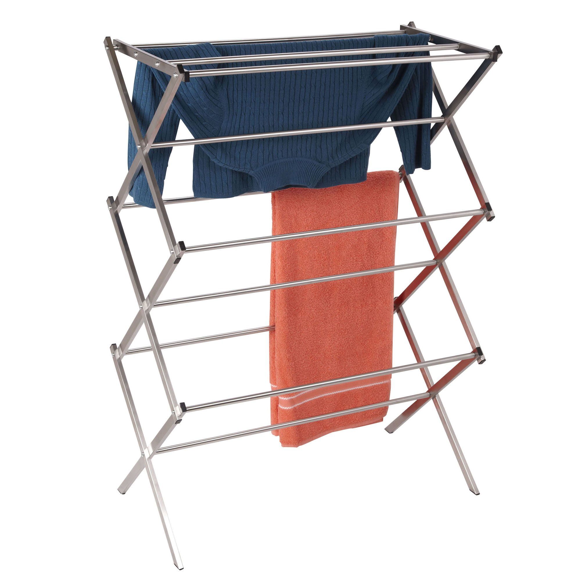 Household Essentials Folding X-Frame Clothes Dryer, Stainless Steel by Household Essentials (Image #5)