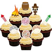 Bonfire Night Party Pack – Decoración comestible para cupcakes – para tartas de oblea decoraciones