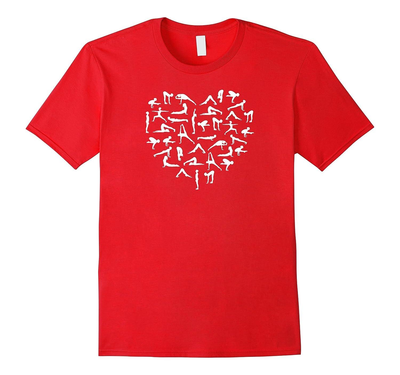 Yoga Love Heart | Asana Silhouettes | Cool Yogi T-Shirt-TH
