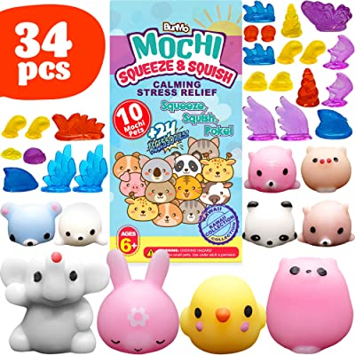 BunMo Mochi Squishy Toys - Party Favors for Kids: Toys & Games