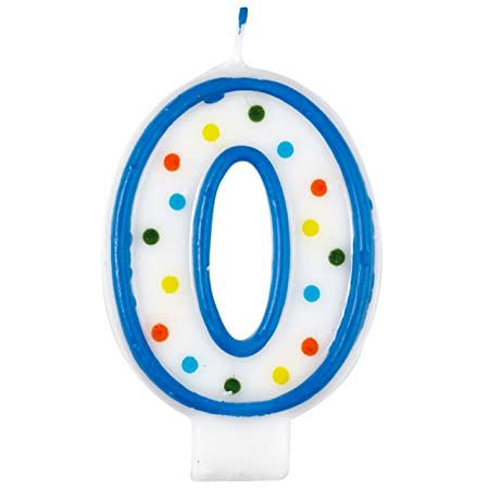 Vela de cumpleaños número 3, diseño con lunares, 7,5 cm de ...