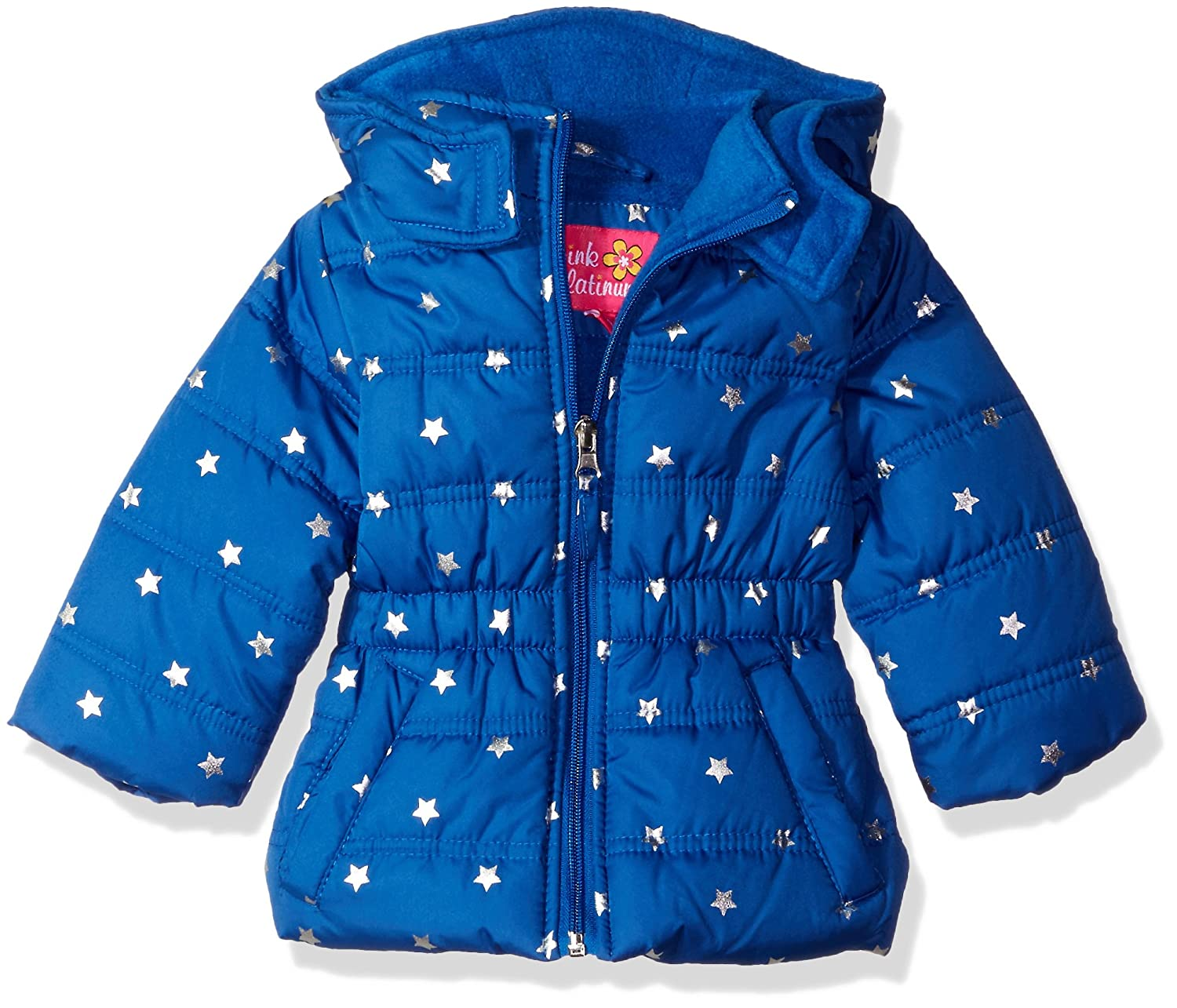 Pink Platinum baby-girls Baby Infant Printed Foil Star Puffer Jacket 74306I