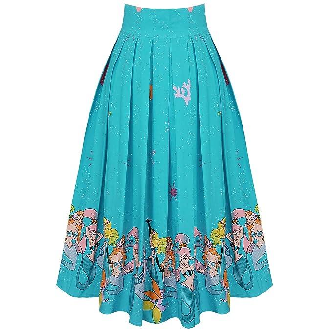 Banned - Falda - para Mujer Azul Aguamarina M 40: Amazon.es: Ropa ...