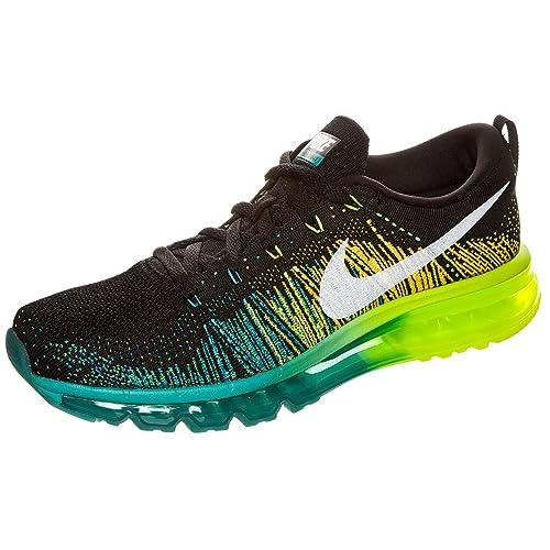 Nike Flyknit Air MAX 620469 - 001 Negro/Blanco/Turbo Verde/V Running Hombre Guantes NK de M8, Color Negro, Talla 43 EU: Amazon.es: Zapatos y complementos