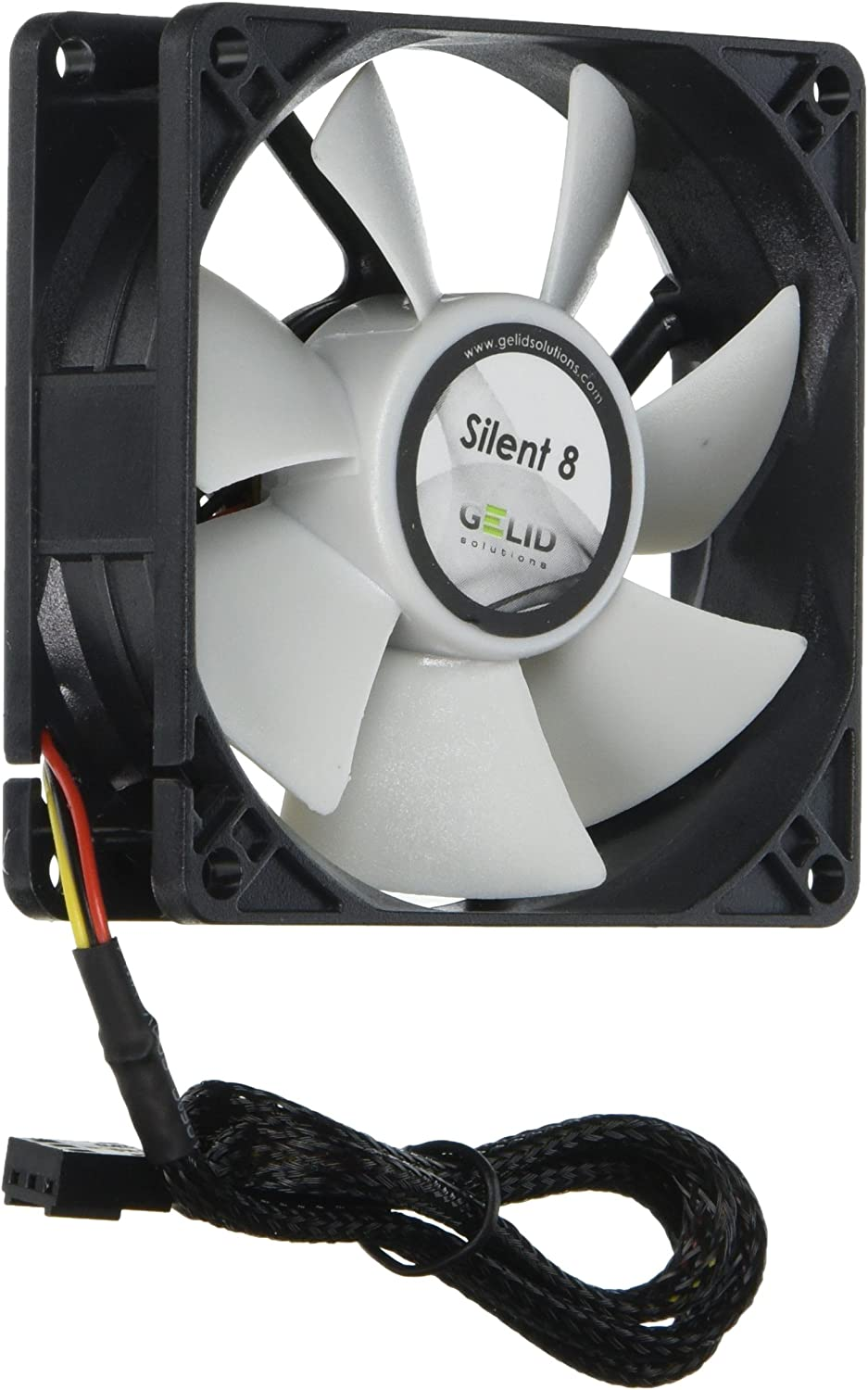 Gelid Solutions Silent Series Case Fan (70mm, White/Black)