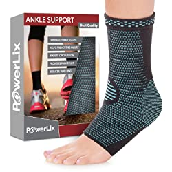 3. PowerLix Ankle Brace Compression Support Sleeve