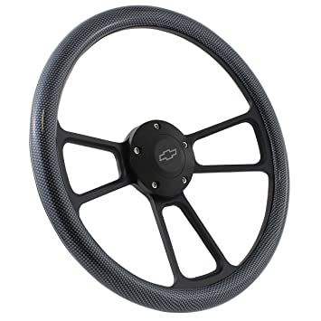 Hydro Horn amazon com black steering wheel 14 inch aluminum with carbon