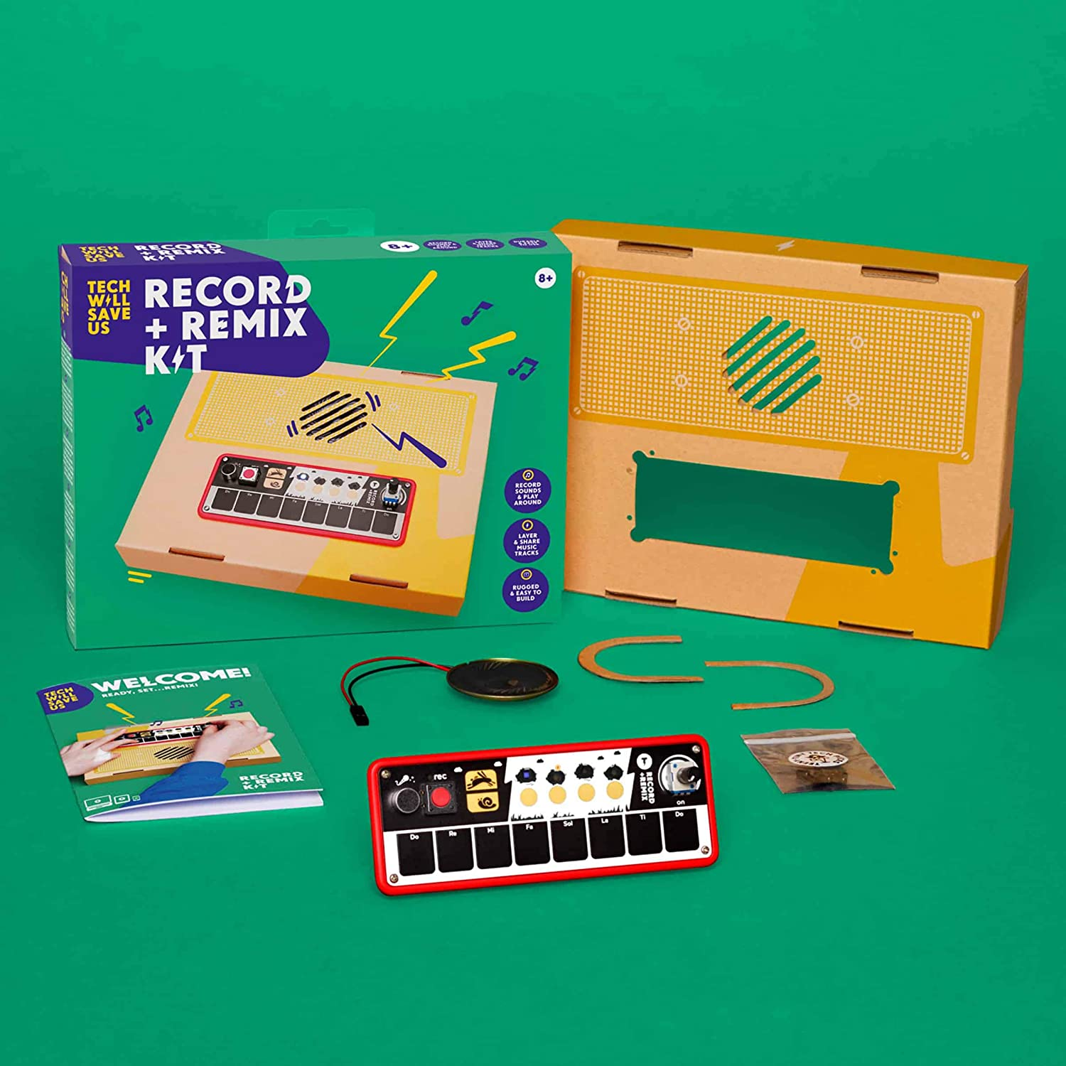 Tech Will Save Us Record and Remix Kit Educational Music Toy Ages 8 and up