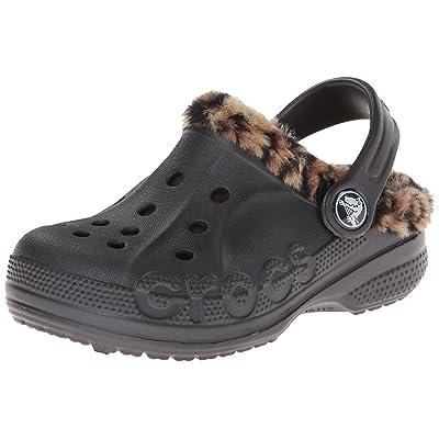 Crocs Kids' Baya Leopard Lined Clog