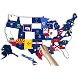 "RV State Sticker Travel Map || 14"" x 22""