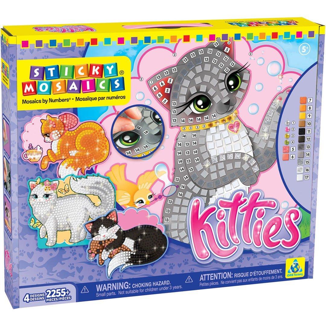 The Orb Factory Sticky Mosaics Kitties Craft Kit