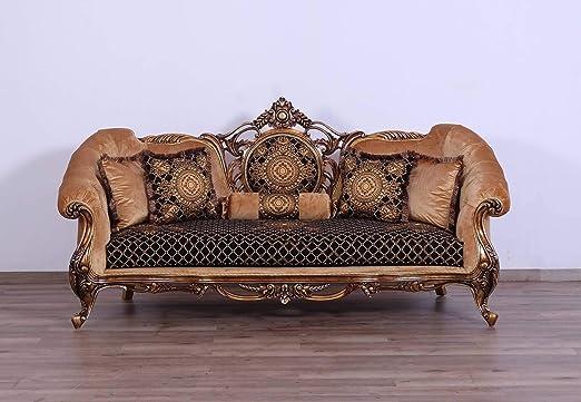 Amazon.com: European Furniture Rosella - Sofá de madera ...