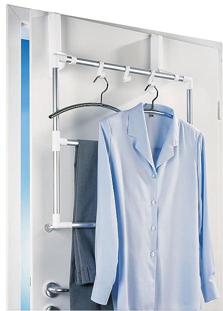 wenko 3304100 handtuchhalter fr tr und duschkabine easy 3 flexible haken aluminium 63 - Wenko Handtuchhalter Dusche