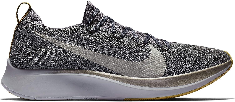 Nike Zoom Fly Flyknit Men s Running Shoe Dark Grey MTLC Pewter-Black Size 10.5