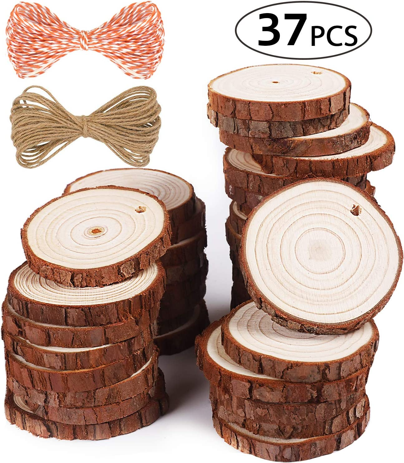 Scrapbooking Wood DIY Crafts Wooden Slice Wood Pieces Hanging Ornaments
