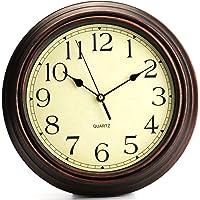 Bekith 30,48cm Redondo clásico Reloj Retro Silencioso