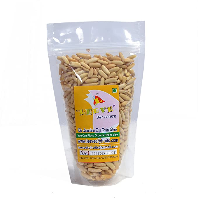 Leeve Dry Fruits Fresh and Hygienic Without Shelled Pine Nuts, 200g