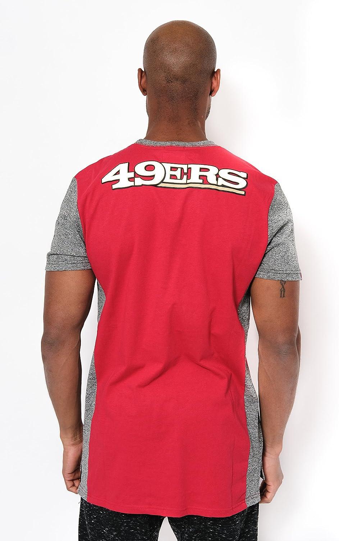 Ultra Game NFL Mens T-Shirt Raglan Block Short Sleeve Tee Shirt